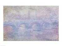 Waterloo Bridge: Effect of the Mist, 1903 Fine Art Print