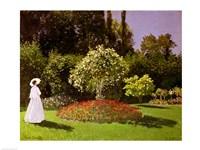Jeanne Marie Lecadre in the Garden, 1866 Fine Art Print