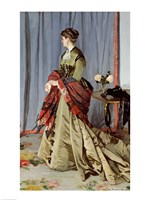 Portrait of Madame Louis Joachim Gaudibert, 1868 Fine Art Print