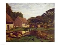 A Farmyard in Normandy, c.1863 Fine Art Print