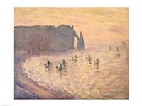 The Cliffs at Etretat, 1886 Fine Art Print