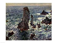 The Rocks at Belle Ile, 1886 Fine Art Print