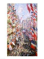 The Rue Montorgueil, Paris, Celebration of June 30, 1878 Fine Art Print