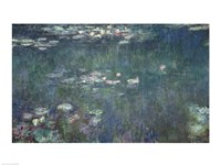 Waterlilies: Green Reflections, 1914-18 Fine Art Print