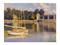 The Bridge at Argenteuil, 1874 Fine Art Print