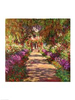 A Pathway in Monet's Garden, Giverny, 1902 Framed Print