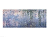 Waterlilies: Morning with Weeping Willows, detail of central section, 1914-18 Fine Art Print