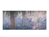 Waterlilies: Morning with Weeping Willows, 1914-18 (right section) Fine Art Print