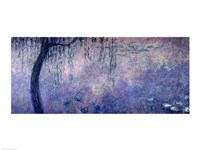 Waterlilies: Two Weeping Willows, left section, 1914-18 Fine Art Print