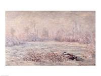 Frost near Vetheuil, 1880 Fine Art Print