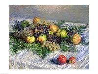 Still Life with Pears and Grapes, 1880 Fine Art Print