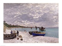 The Beach at Sainte-Adresse, 1867 Fine Art Print