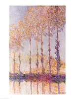 Poplars on the Banks of the Epte, 1891 Fine Art Print