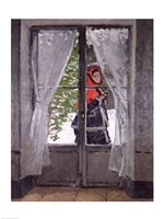 The Red Cape (Madame Monet) c.1870 Fine Art Print