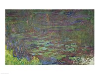 Waterlilies at Sunset, detail from the right hand side, 1915-26 Fine Art Print