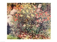 Women in the Flowers, 1875 Fine Art Print