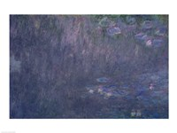 Waterlilies: Reflections of Trees, detail from the left hand side, 1915-26 Fine Art Print
