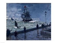 The Jetty at Le Havre, Bad Weather, 1870 Fine Art Print