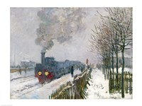 Train in the Snow or The Locomotive, 1875 Fine Art Print