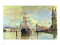The Seine at Rouen, 1872 Fine Art Print