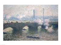 Study of Waterloo Bridge at Dusk, 1903 Fine Art Print