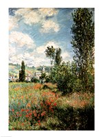 Path through the Poppies, Ile Saint-Martin, Vetheuil, 1880 Framed Print