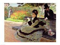 Madame Monet on a Garden Bench Fine Art Print