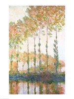 Poplars on the Banks of the Epte, Autumn, 1891 Fine Art Print