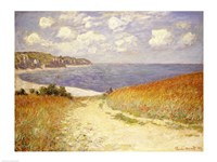 Path in the Wheat at Pourville, 1882 Framed Print