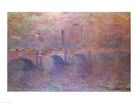 The Thames at Waterloo Bridge, 1903 Framed Print