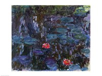 Waterlilies with Reflections of a Willow Tree, 1916-19 Fine Art Print