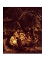 Adoration of the Shepherds, 1646 Framed Print