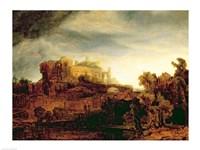 Landscape with a Chateau Fine Art Print