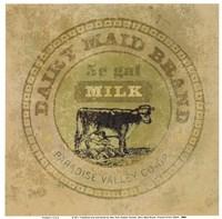 Dairy Maid Brand Framed Print