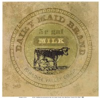 Dairy Maid Brand Fine Art Print