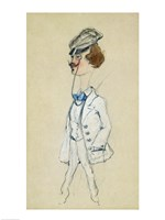 Young Man with a Monocle, 1857 Fine Art Print