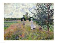 Promenade near Argenteuil, 1873 Fine Art Print