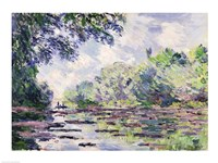 The Seine at Giverny, 1885 Fine Art Print