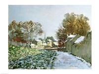 Snow at Argenteuil, 1874 Fine Art Print