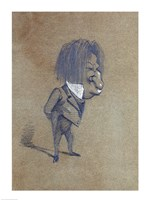 Caricature of Jules Husson 'Champfleury' Fine Art Print