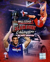 Blake Griffin 2011 NBA Slam Dunk Champion Portrait Plus Fine Art Print