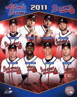 Atlanta Braves 2011 Team Composite Fine Art Print