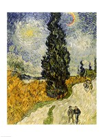 Road with Cypresses, 1890 Fine Art Print
