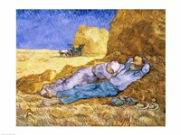 Noon, or The Siesta, after Millet, 1890 Framed Print