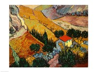 Landscape with House and Ploughman, 1889 Fine Art Print