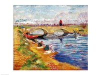 The Gleize Bridge over the Vigneyret Canal Fine Art Print