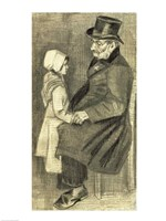 Seated Man with his Daughter, 1882 Fine Art Print