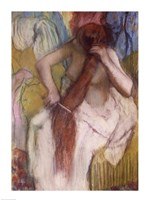 Woman Combing her Hair Fine Art Print