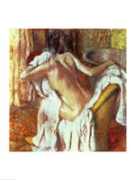 Woman drying herself Fine Art Print