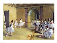 The Dance Foyer at the Opera on the rue Le Peletier, 1872 Fine Art Print